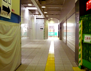 拝島駅工事中